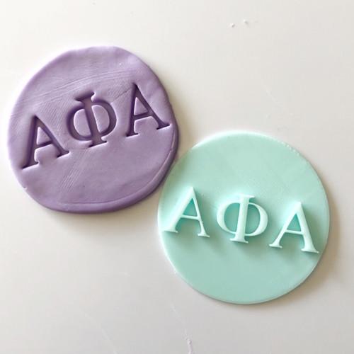 Alpha Phi Alpha Fondant  /Cookie Embosser
