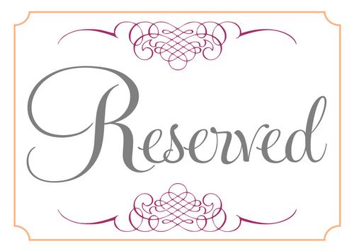Reserved --Nicole