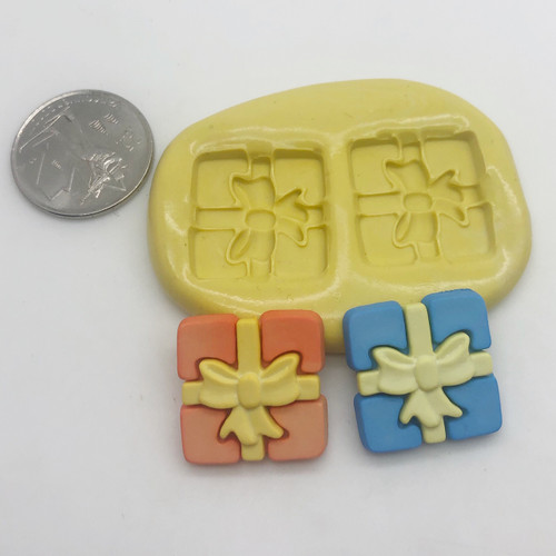 Present with bow  Silicone Mold