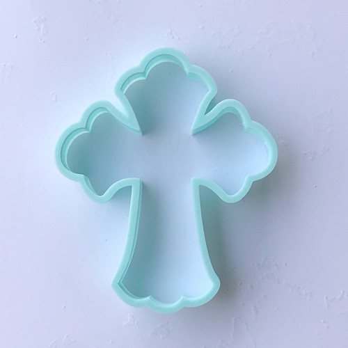 large Fancy Cross Cookie cutter