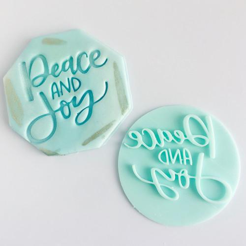Peace and Joy  Fondant /Cookie Embosser