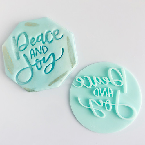 Peace and Joy  Fondant /Cookie Embosser