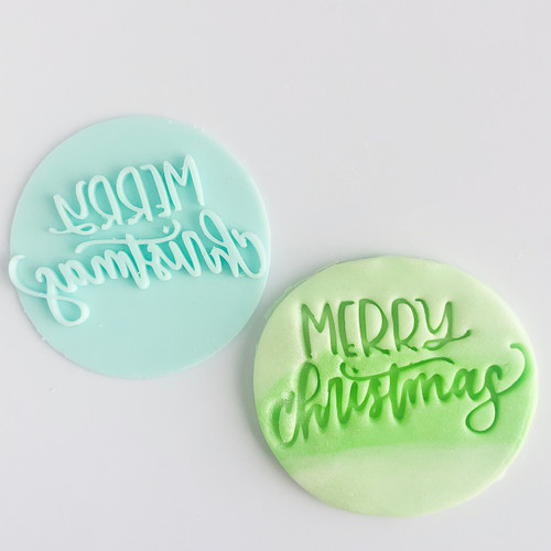 Merry Christmas   Fondant /Cookie Embosser  (3)