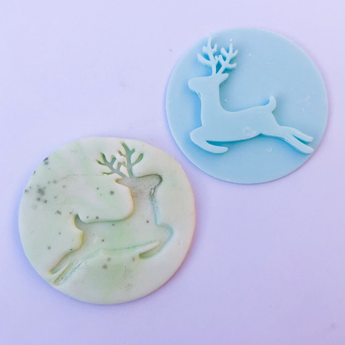 ReindeerSilhouette Fondant /Cookie Embosser