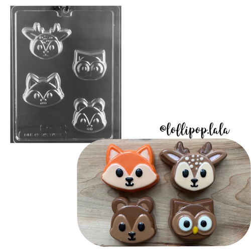 Woodland Animal Faces Cookie  #233