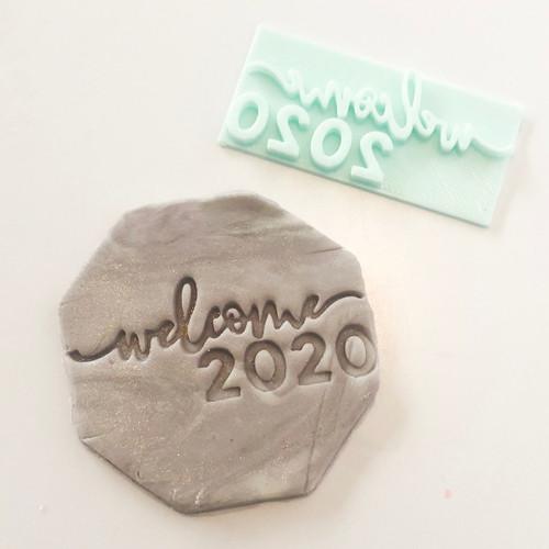 Welcome 2020  Fondant /Cookie Embosser