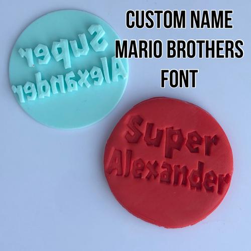 Super Mario Custom Name    Fondant /Cookie Embosser