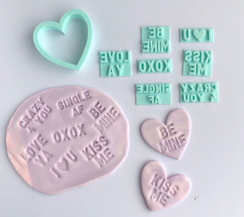 Conversation Heart cutter and press Fondant /Cookie Embosser