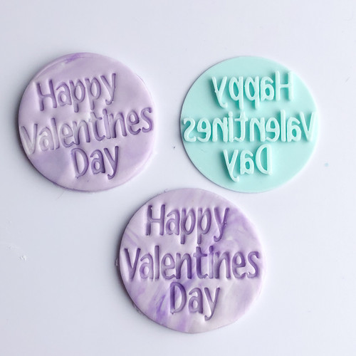 Happy Valentines day Bold Fondant /Cookie Embosser