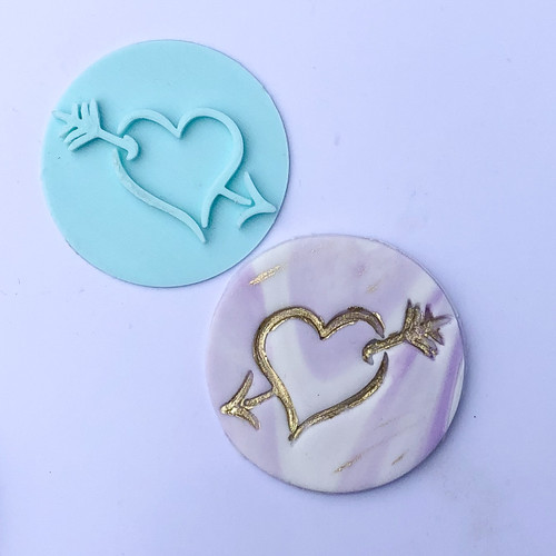 Heart with arrow  Fondant /Cookie Embosser