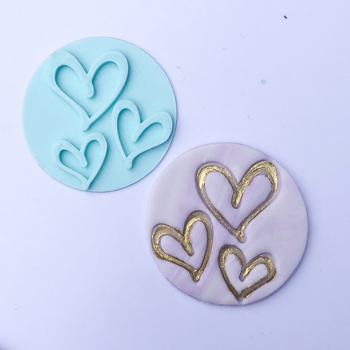 Hearts  Fondant /Cookie Embosser