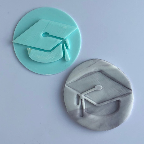 Graduation cap Fondant /Cookie Embosser