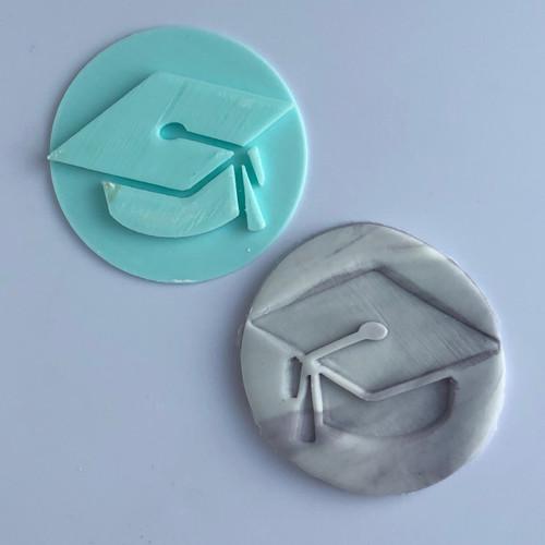Graduation cap Fondant /Cookie Embosser