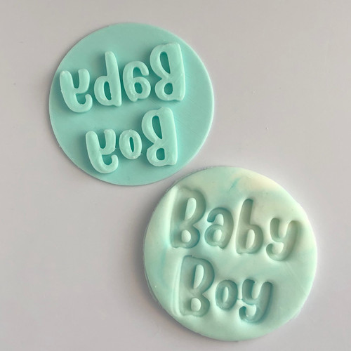 Baby Boy Fondant /Cookie Embosser  (fun font)