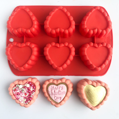 Fancy Heart  Silicone Baking Tray fit Oreo and rice