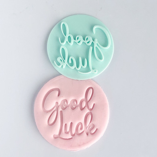 Good Luck  Fondant /Cookie Embosser
