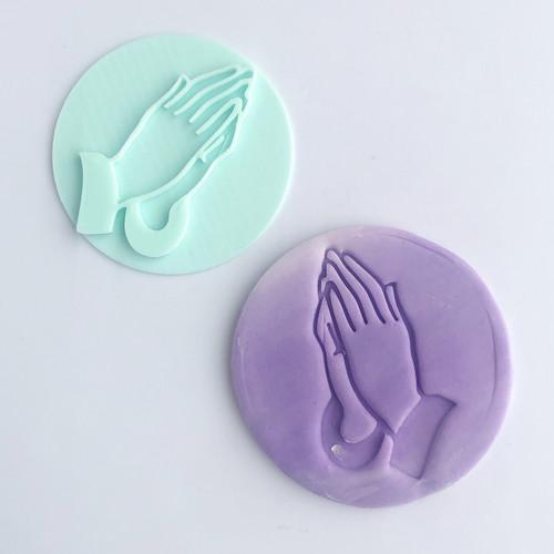 Preying Hands Fondant /Cookie Embosser