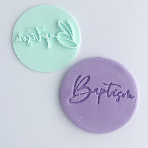 Baptism  Fondant /Cookie Embosser