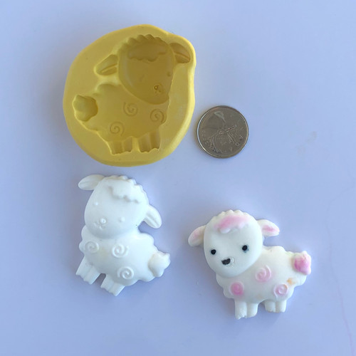 Lamb  Silicone Mold with dots