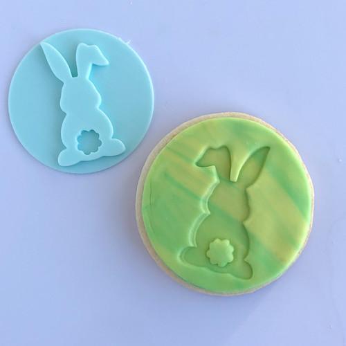 Bunny with pom pom  Fondant /Cookie Embosser