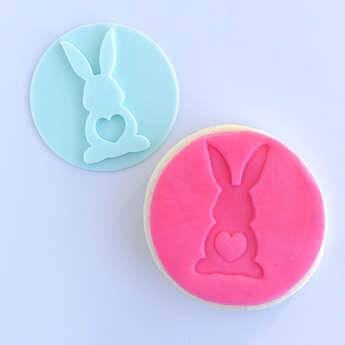 Bunny with Heart Tail   Fondant /Cookie Embosser