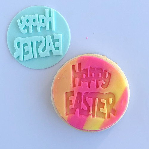 Happy Easter Bold Fondant /Cookie Embosser