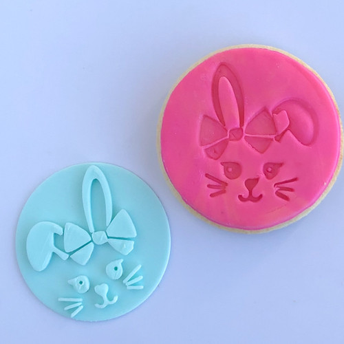 Bunny with bows  Fondant /Cookie Embosser