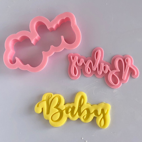 Baby Cookie cutter with stamp
