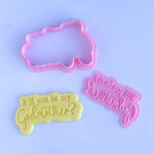 Godmother  Cookie cutter with stamp