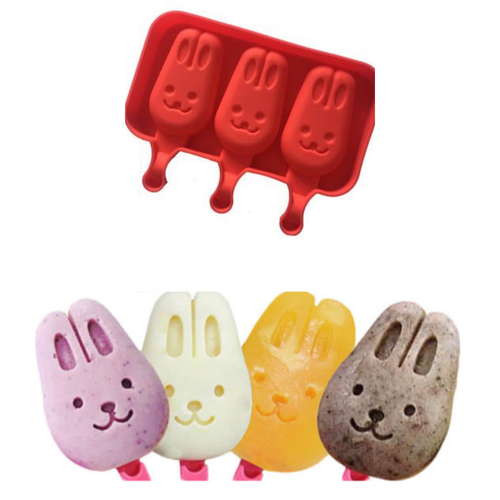 Bunny Popsicle  Cake Slice Ice Cream Silicone Mold