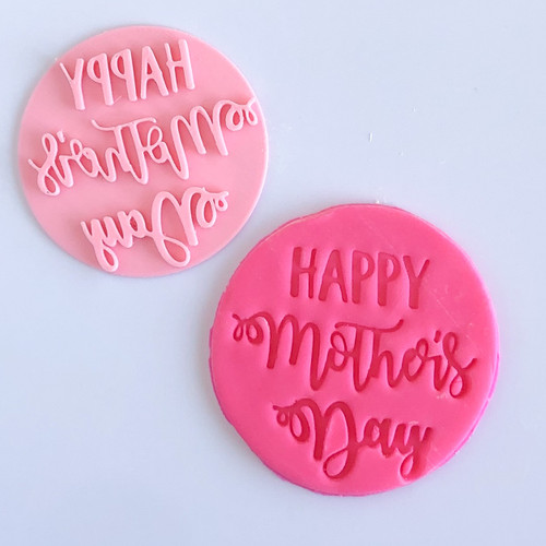 Happy Mothers day Fancy Fondant /Cookie Embosser