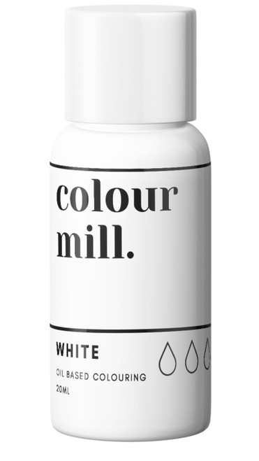 Oil Based Colouring 20ml White-Colourmil