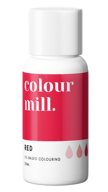 Oil Based Colouring 20ml Red  -Colourmil