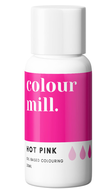 Oil Based Colouring 20ml Hot Pink  -Colourmil