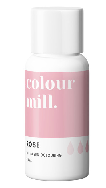 Oil Based Colouring 20ml Rose  -Colourmil