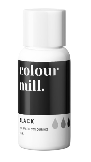 Oil Based Colouring 20ml Black -