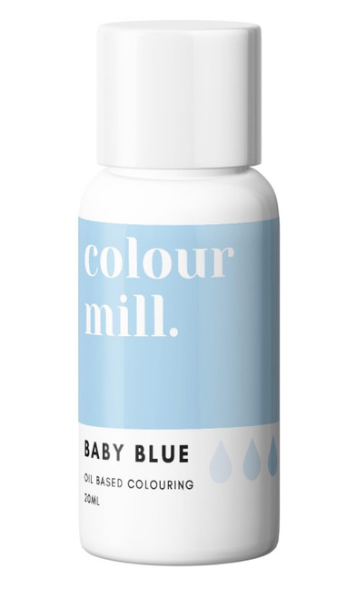 oil Based Colouring 20ml Baby blue -Colourmil