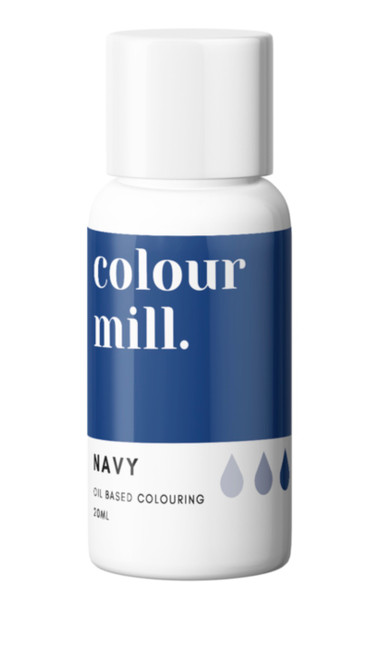 Oil Based Colouring 20ml Navy  -Colourmil