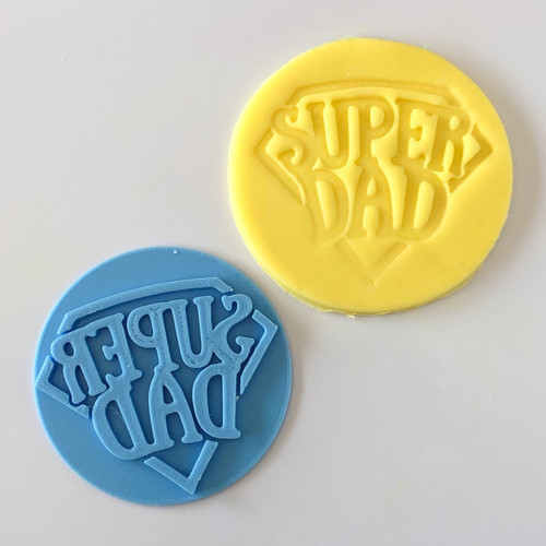 Super Dad   Fondant /Cookie Embosser