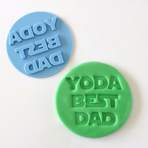 Yoda best Dad Fondant /Cookie Embosser