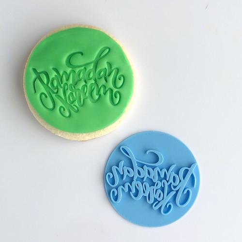 Ramadan Kareem Fancy  Fondant /Cookie Embosser