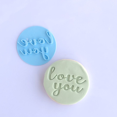 love you Fondant /Cookie Embosser (new)