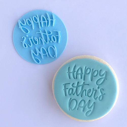 Happy fathers day Fancy  Fondant /Cookie Embosser