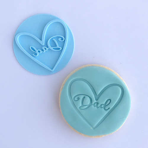 dad with heart   Fondant /Cookie Embosser