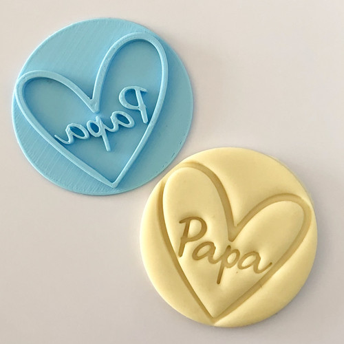 Papa  with heart   Fondant /Cookie Embosser
