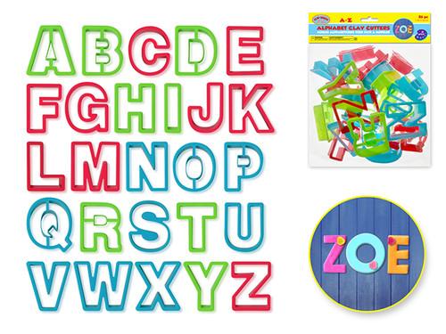 Clay-Dough Alphabet Cutters x26  A-Z