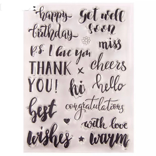 Greetings  clear stamps