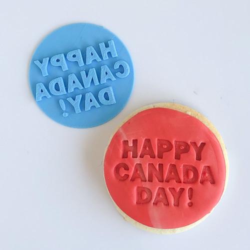 Happy Canada Day   Fondant /Cookie Embosser