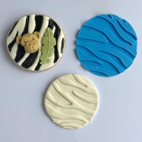 Zebra Print  Fondant /Cookie Embosser