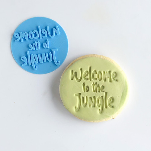Jungle welcome   Fondant /Cookie Embosser
